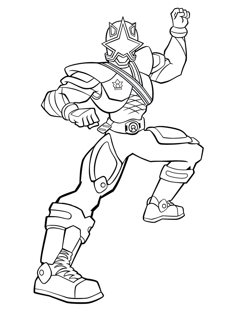 Power Ranger Coloring Pages Samurai Inside Rangers