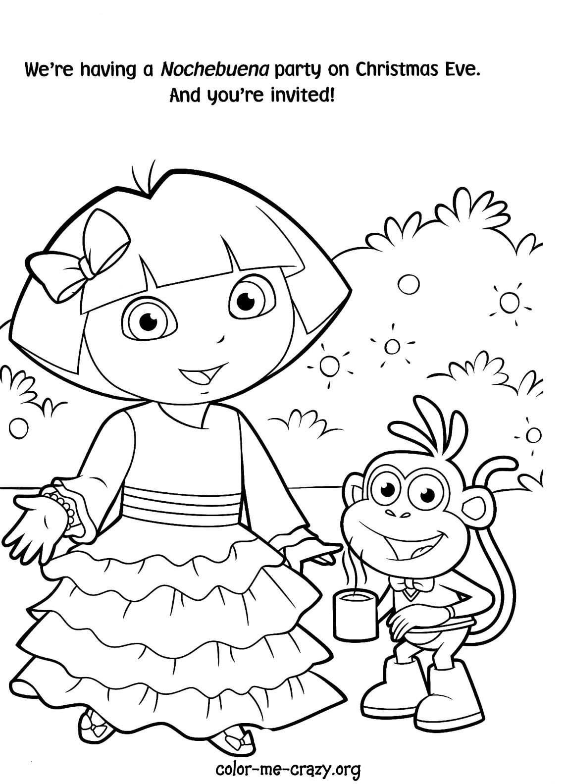 Free Coloring Pages Dora