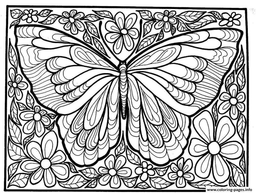 Elegant Butterfly Coloring Pages For Adults 74 Free Throughout