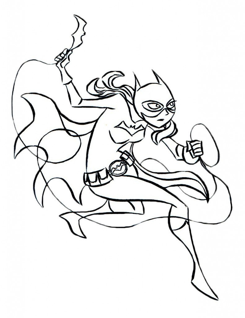 Printable Batgirl Coloring Pages 19618,