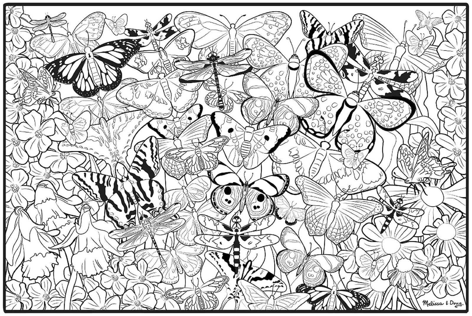 Printable Butterfly Coloring Pages For Adults Archives Best Of And
