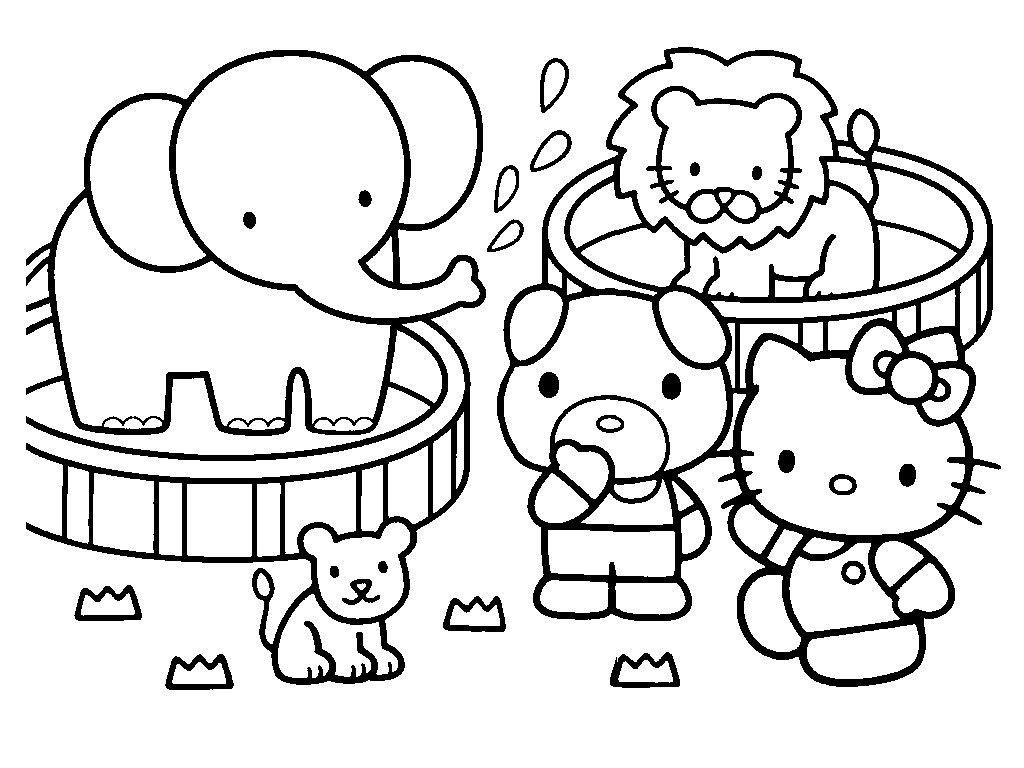 Printable Coloring Pages Hello Kitty And