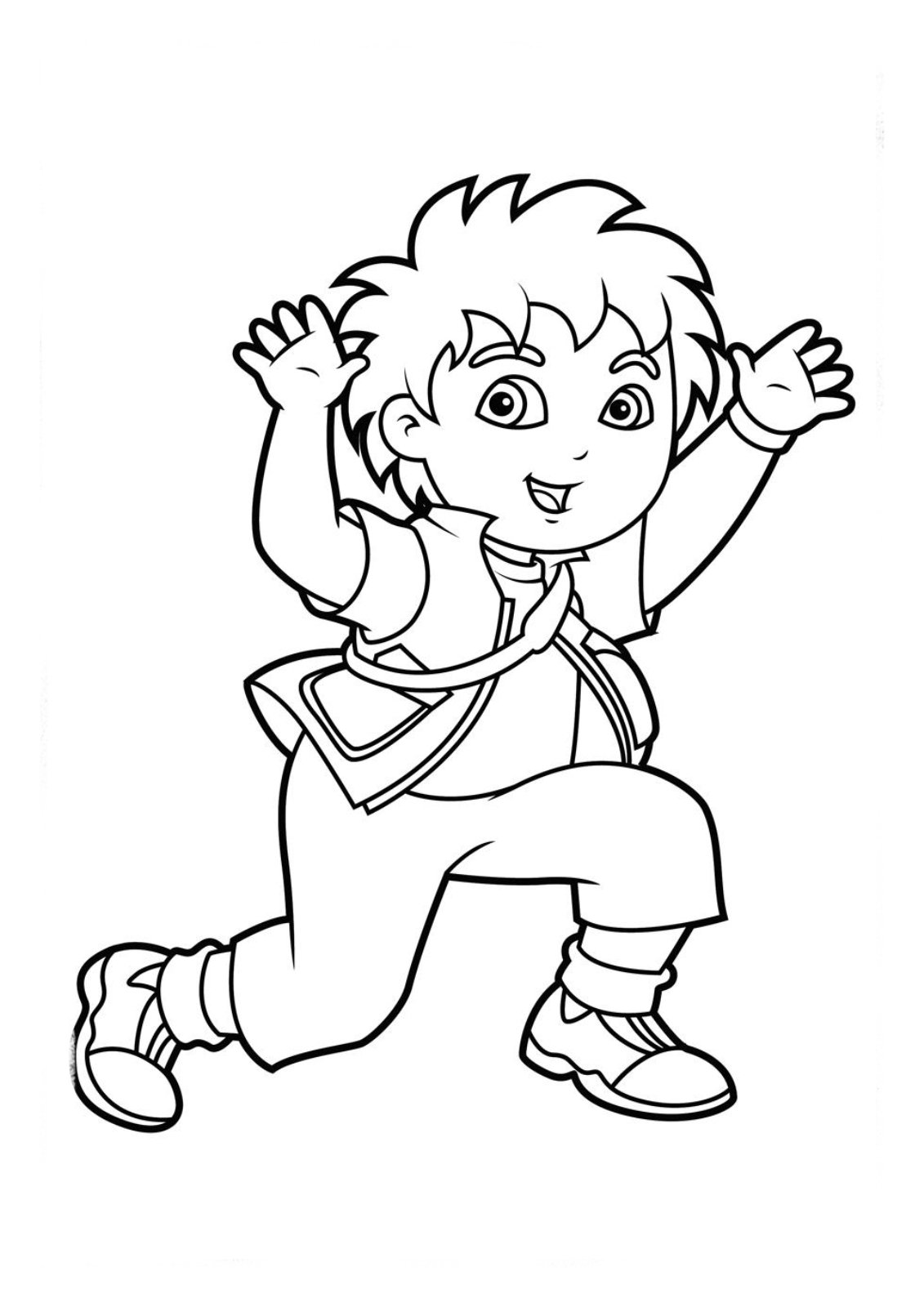 Printable Diego Coloring Pages And