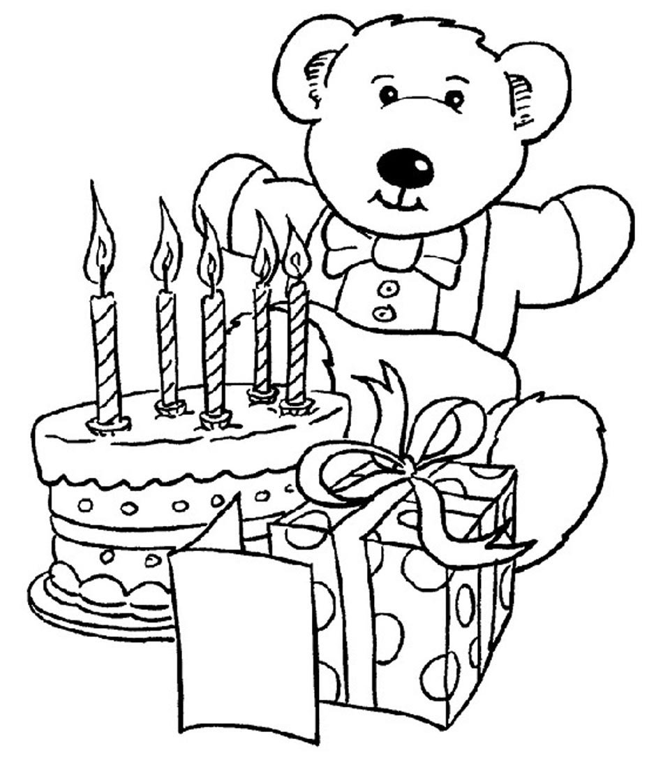 Printable Happy Birthday Coloring Pages Inside