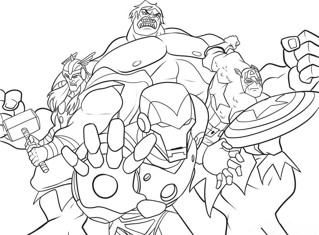 Printable Marvel Super Hero Coloring Pages Superhero Valentine