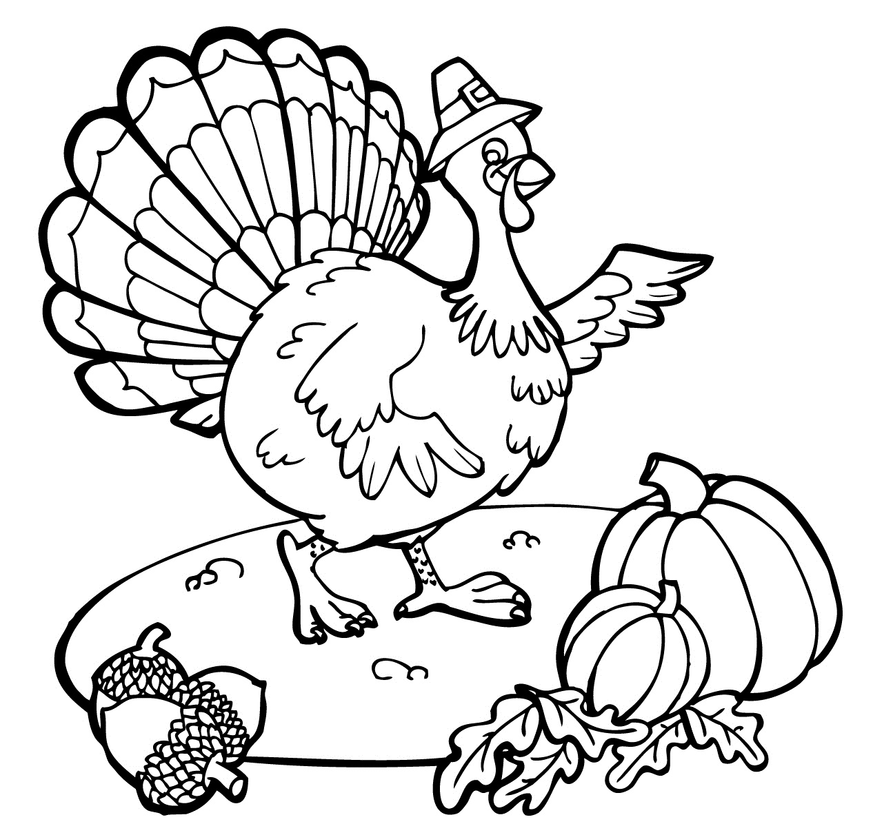 Printable Pictures Coloring Pages Thanksgiving Turkey 33 On Free