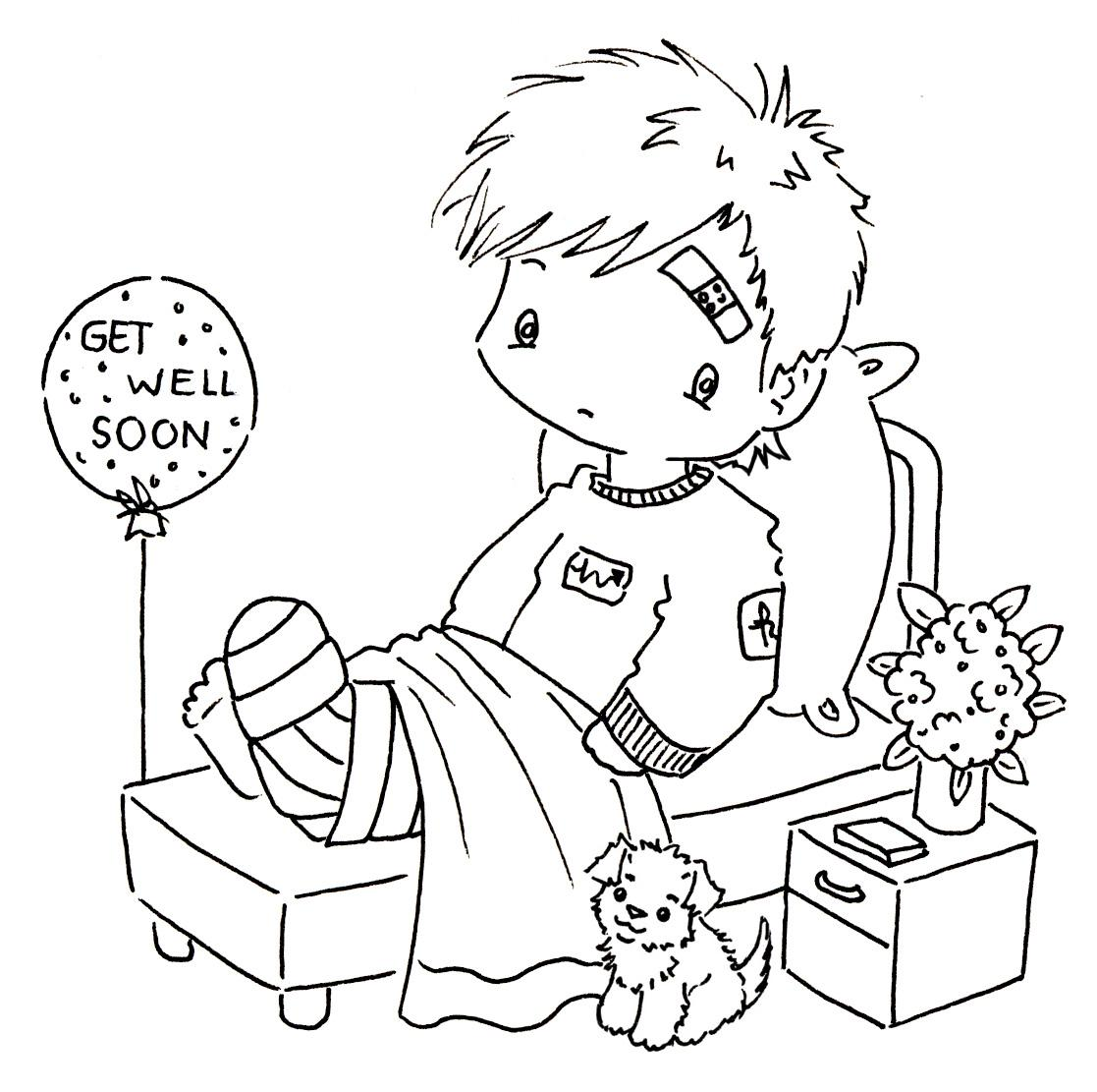 Printable Pictures Get Well Coloring Pages 28 In Seasonal