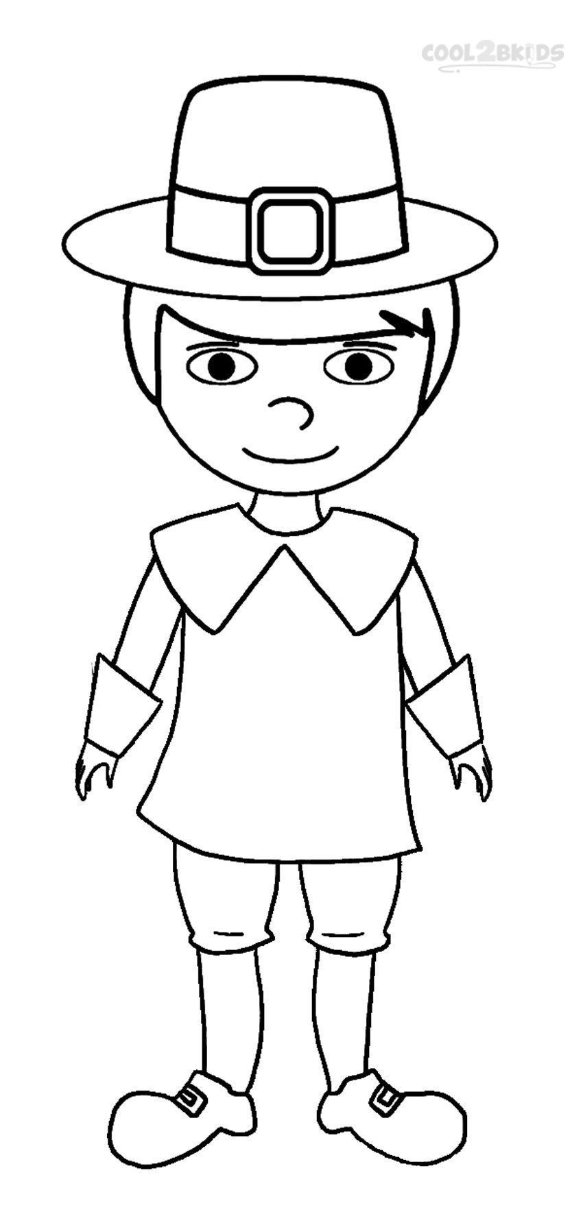 Printable Pilgrims Coloring Pages For Kids Cool2bkids Within