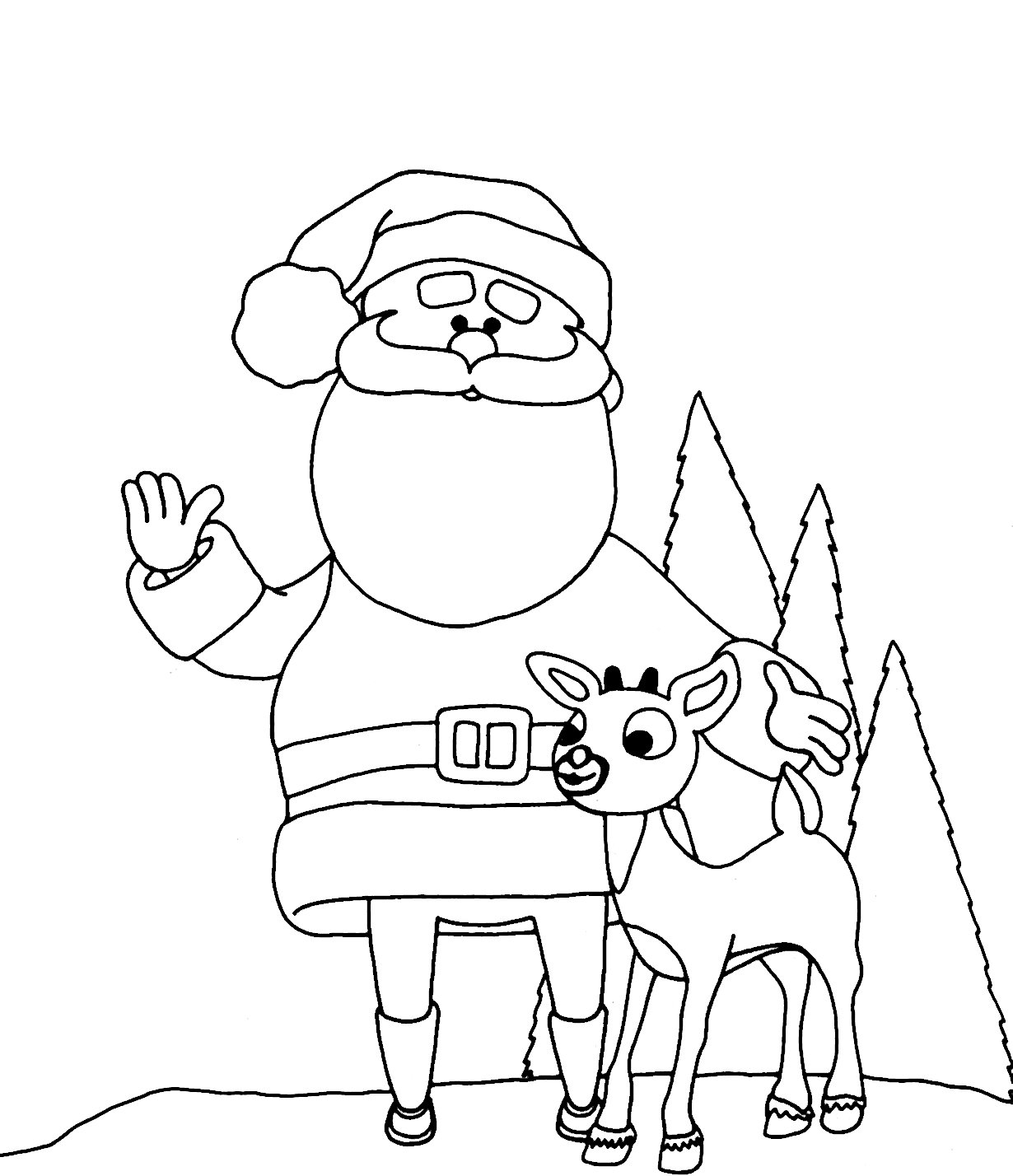 Download Coloring Pages  Printable Reindeer Coloring Pages