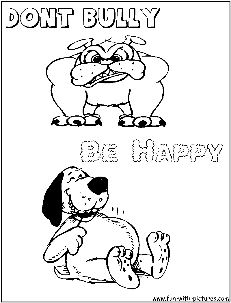 Project For Awesome Anti Bullying Coloring Pages At Best All