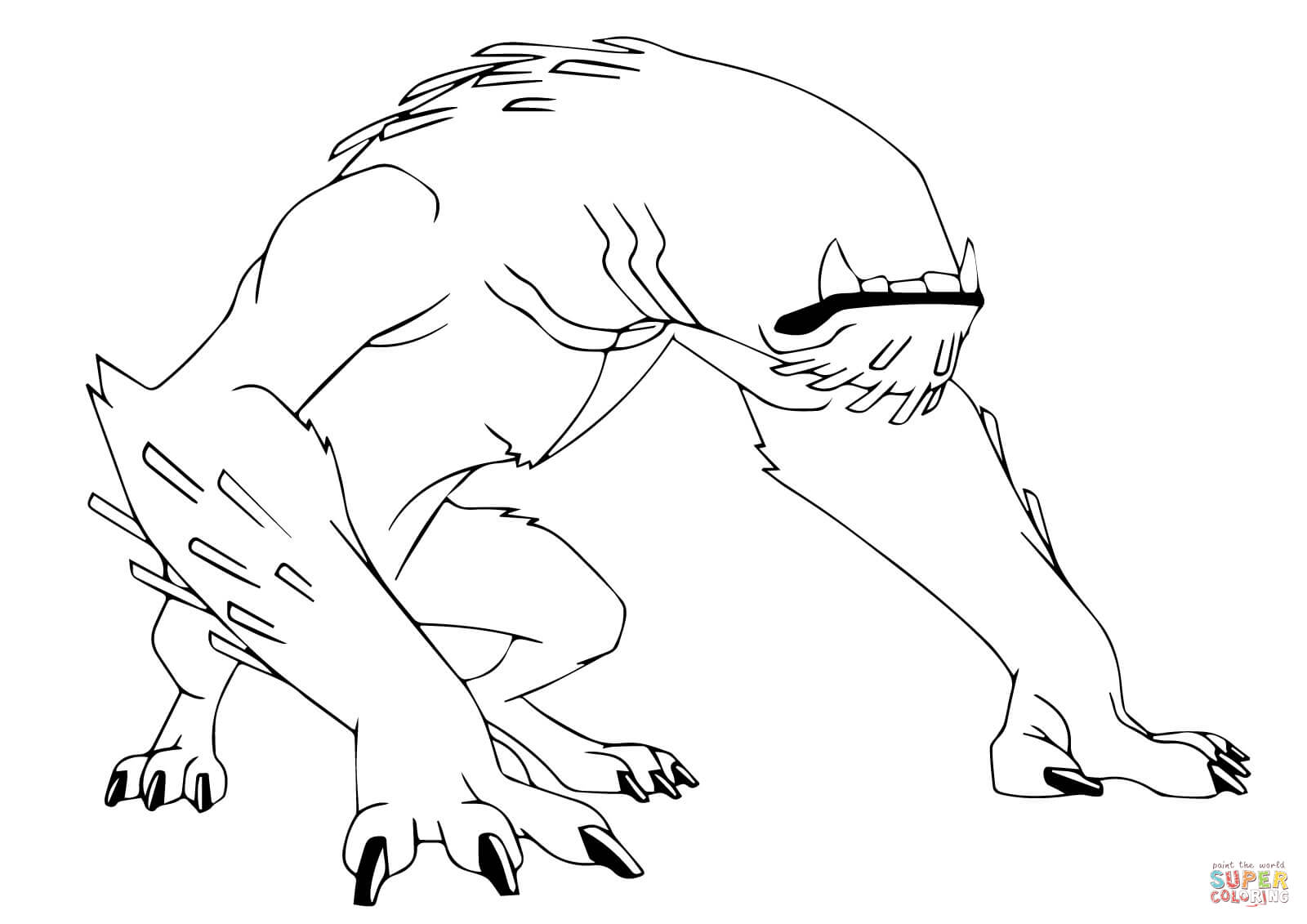 Ben 10 Wildmutt Coloring Page