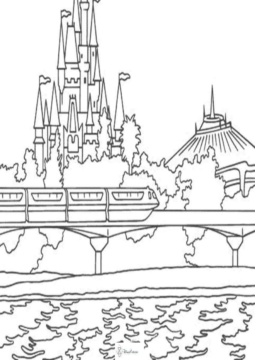 Its A Small World Coloring Pages Walt Disney World Colouring Pages