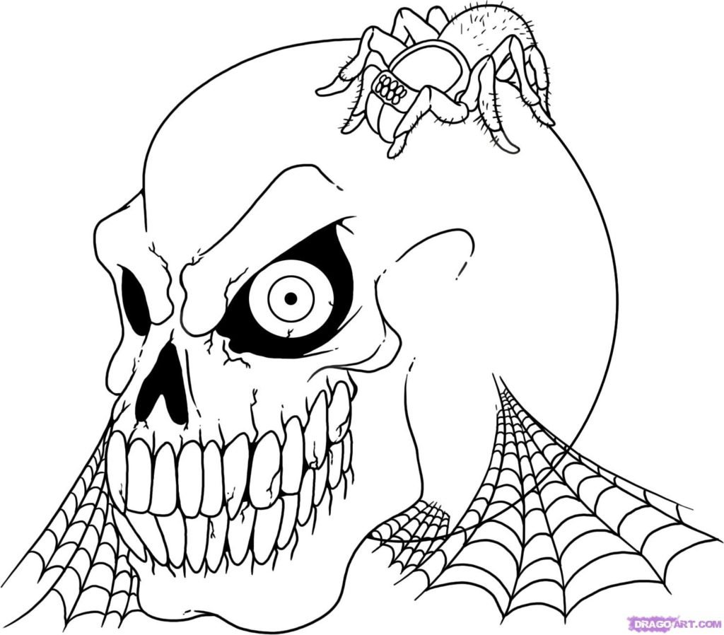 Scary Halloween Coloring Pages Archives At Scary Halloween