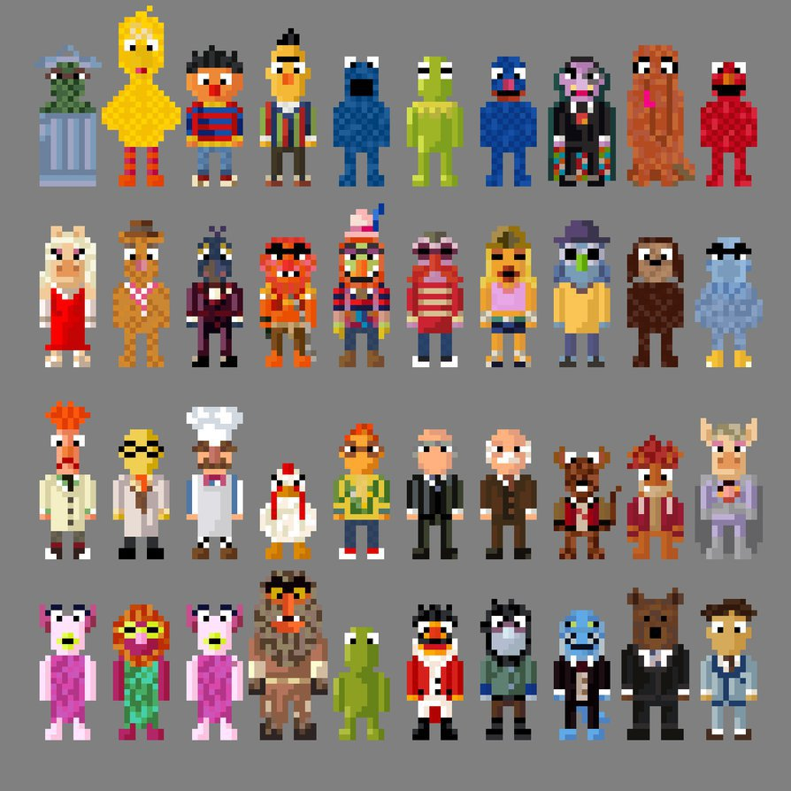 Sesame Street And Muppet Characters 8 Bit By Lustriouscharming On