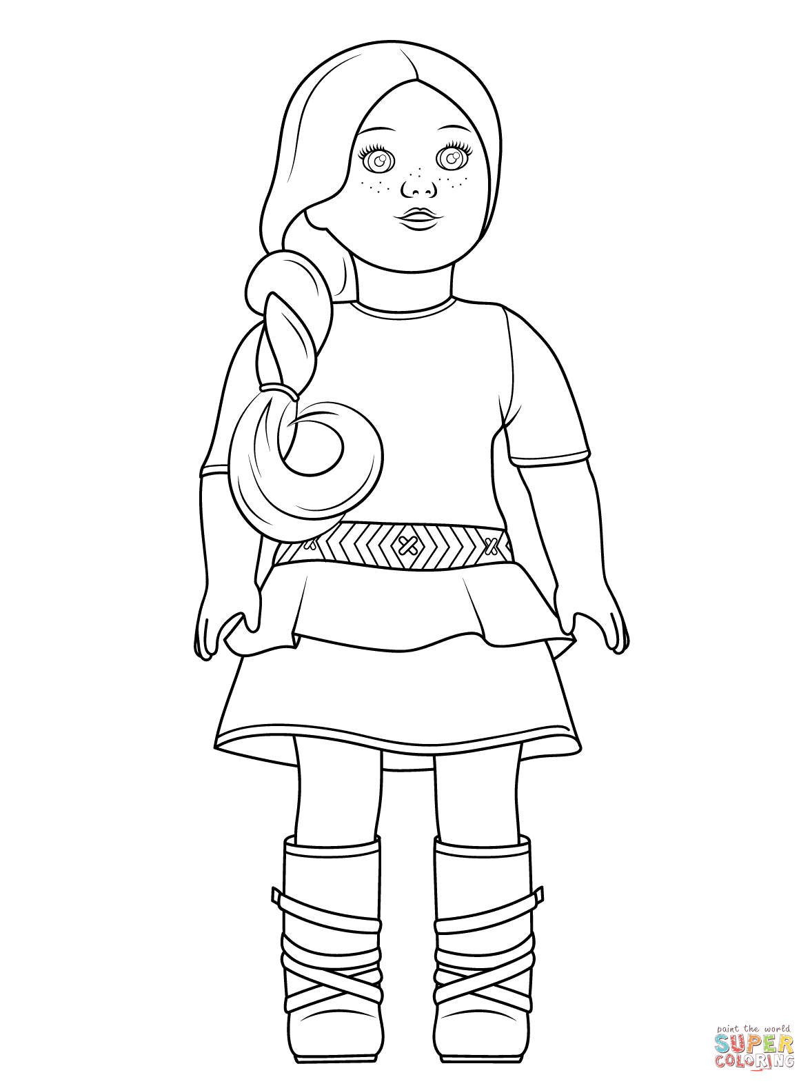 Sheets American Girl Doll Coloring Page 39 In Coloring Pages
