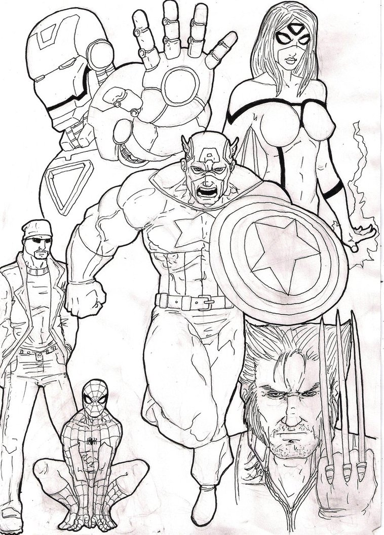 Sheets Avengers Coloring Pages To Print 27 For Your Coloring Books