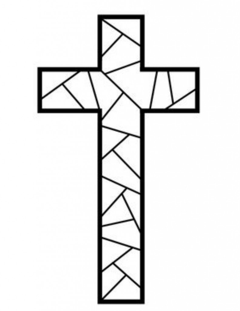 Free Printable Cross Coloring Pages   Wallpaper Download
