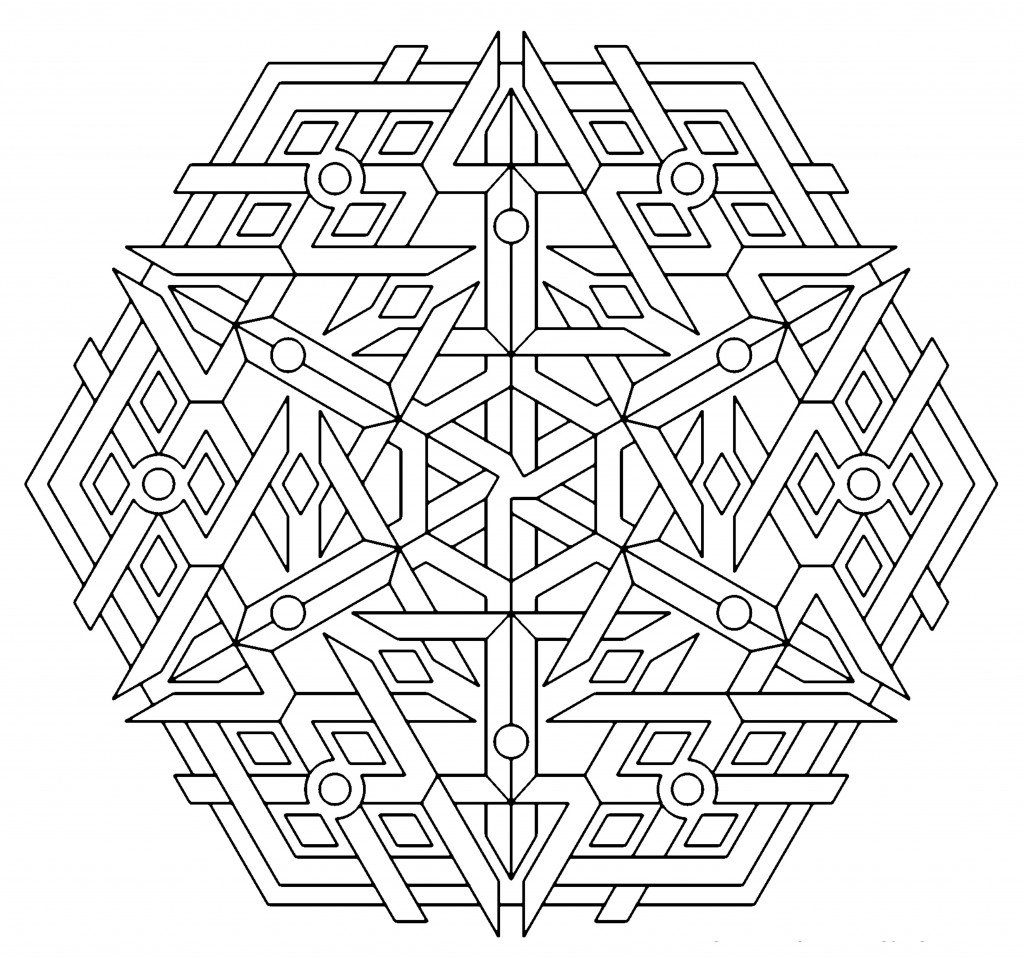 Sheets Geometric Coloring Pages 32 For Your Coloring Pages Disney