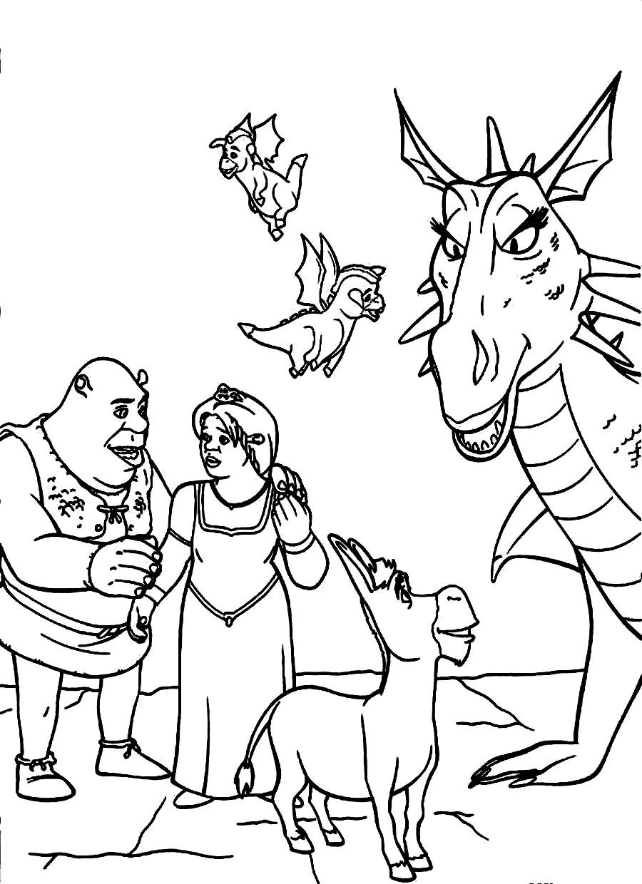 Shrek Coloring Pages And Friends