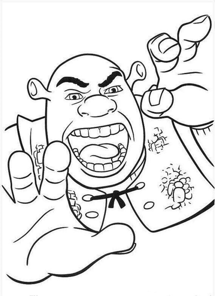 Shrek Coloring Pages Printable