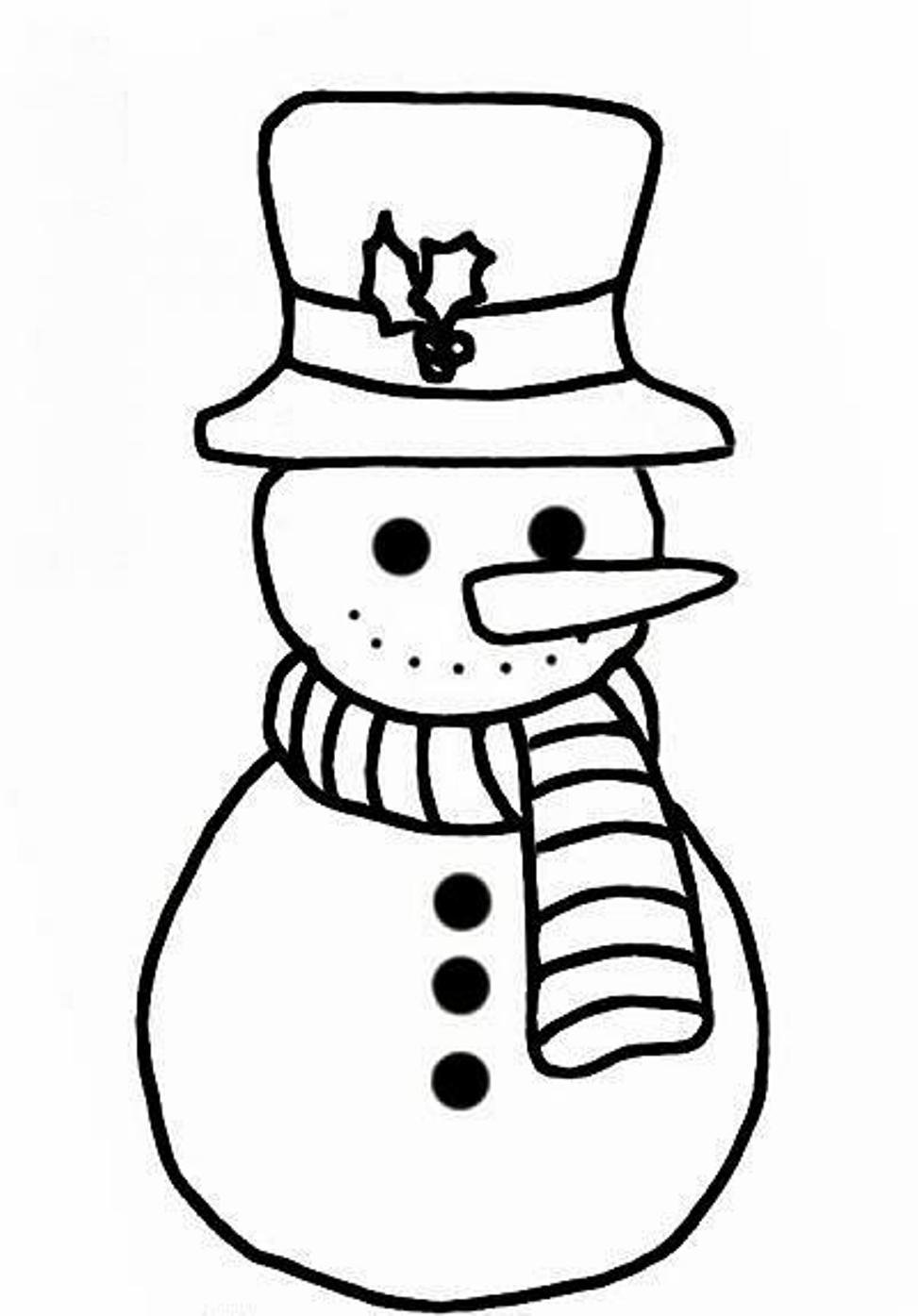 30 Snowman Coloring Pages