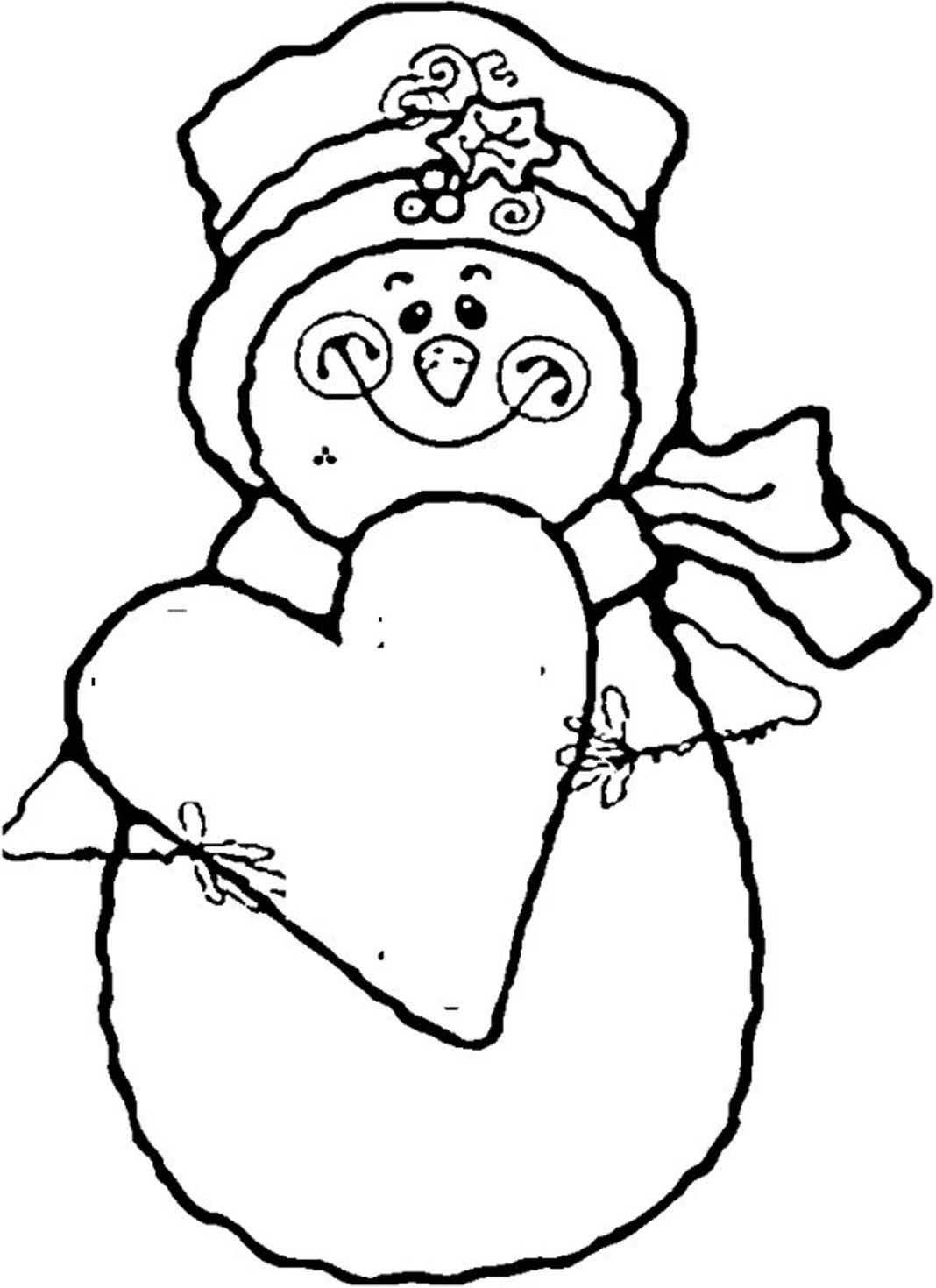 Download Snowman Coloring Pages To Print