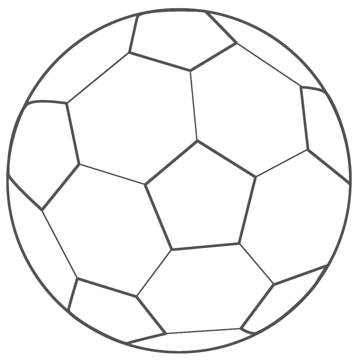 Soccer Ball Coloring Page Clipart