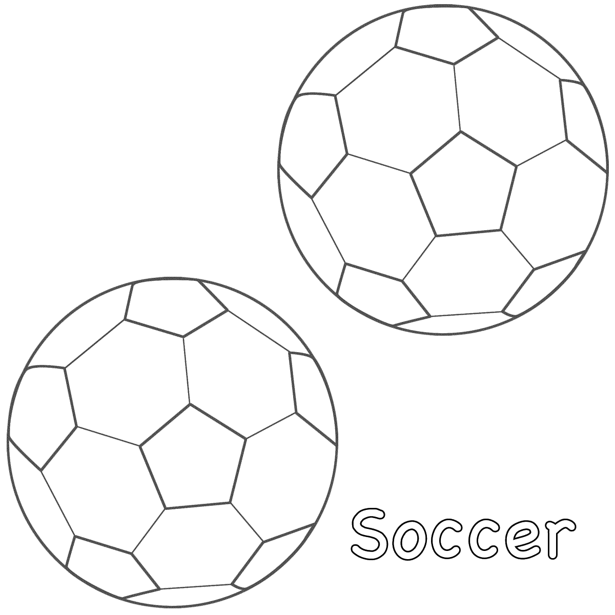 Soccer Ball Coloring Page   Best Coloring Pages