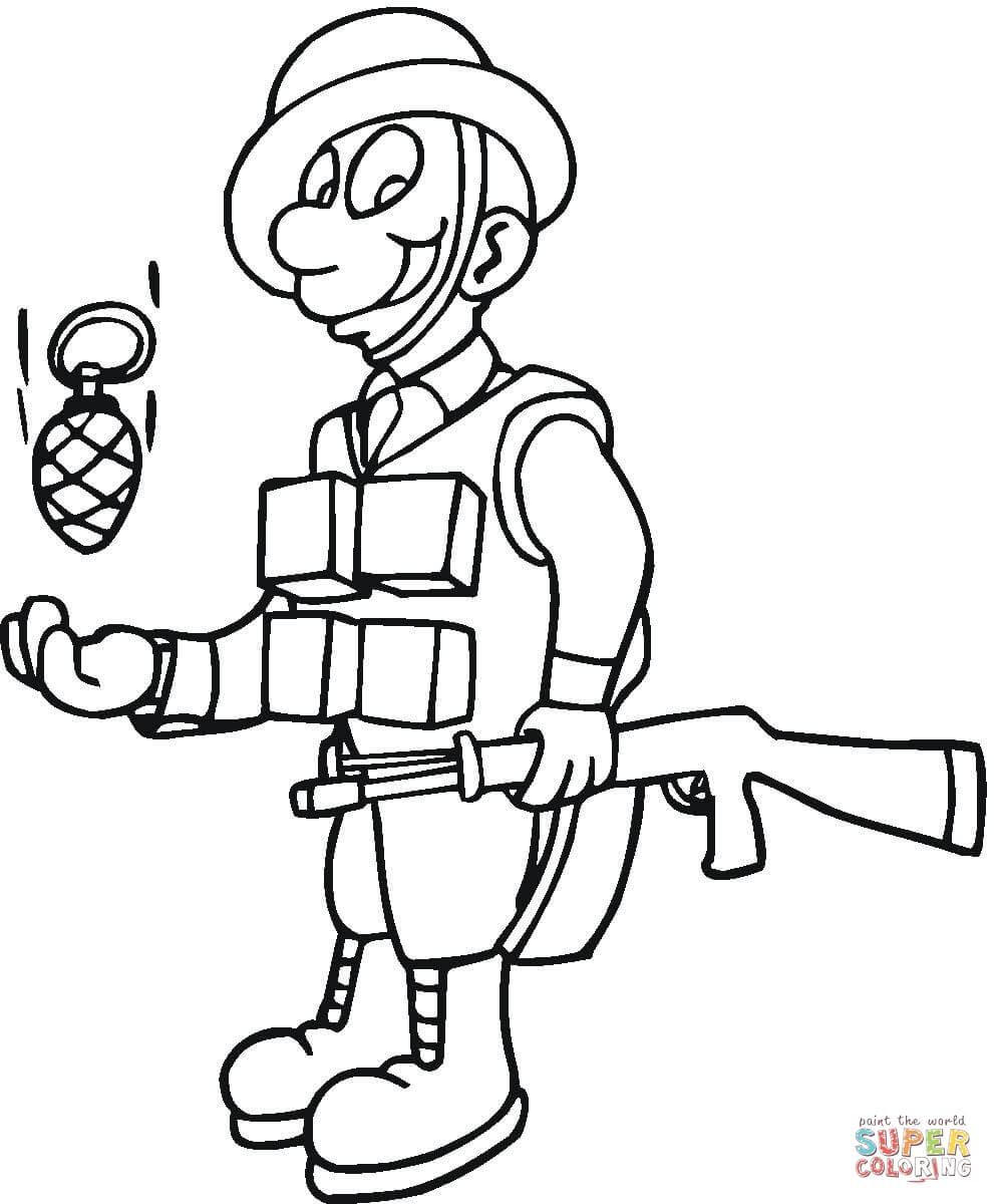 Soldiers Coloring Pages