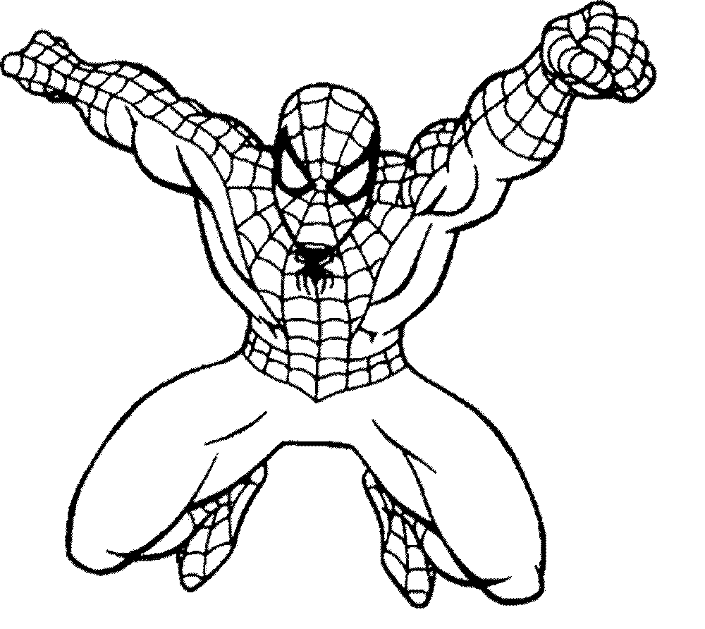 Spiderman Coloring Page 3177 With Spider Man