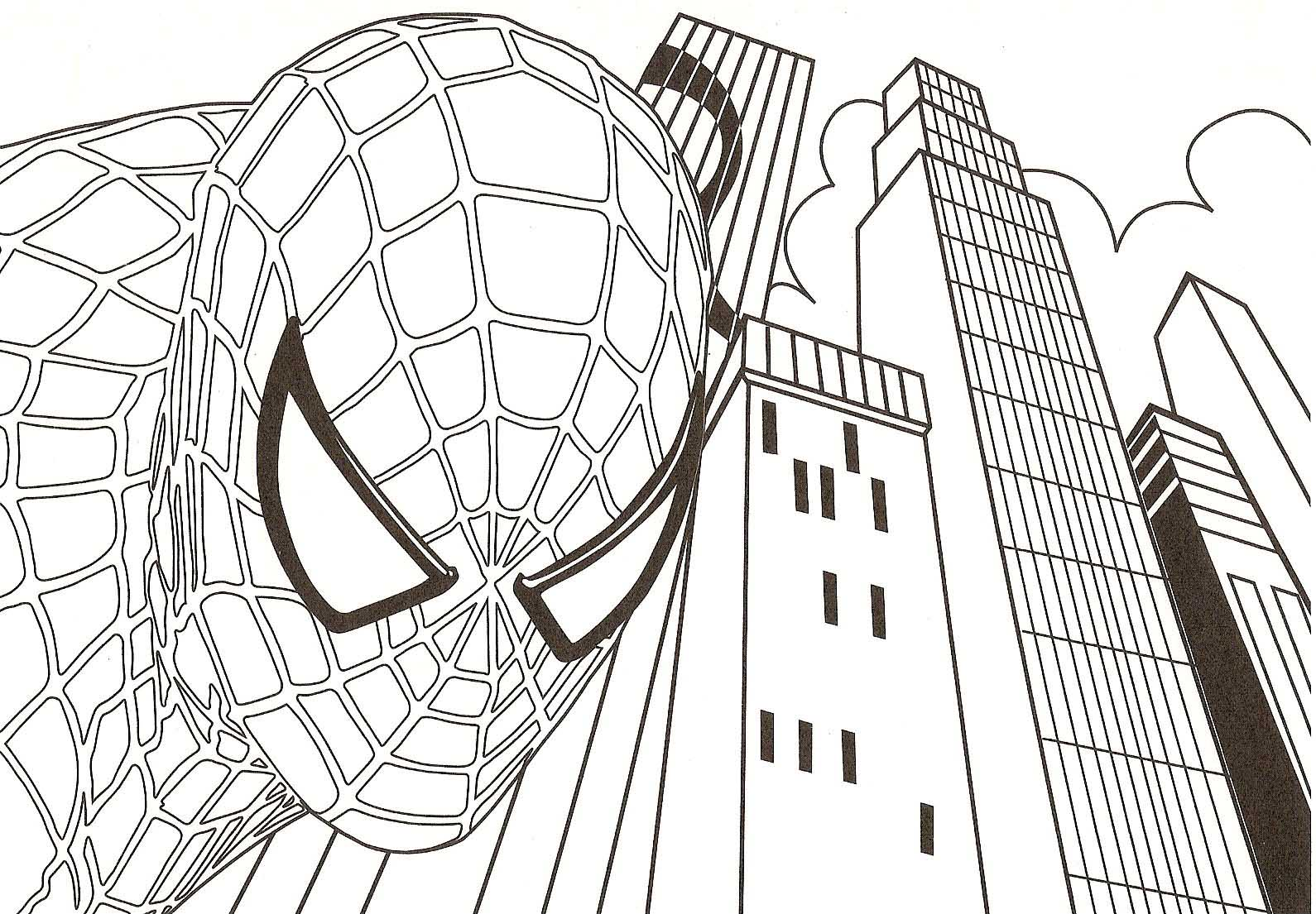 Spiderman Coloring Pages In City