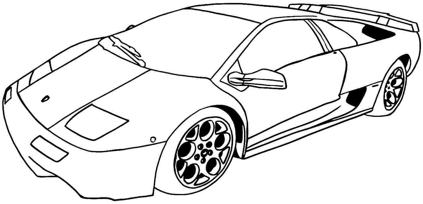 Sport Cars Coloring Pages Throughout Car For Preschoolers