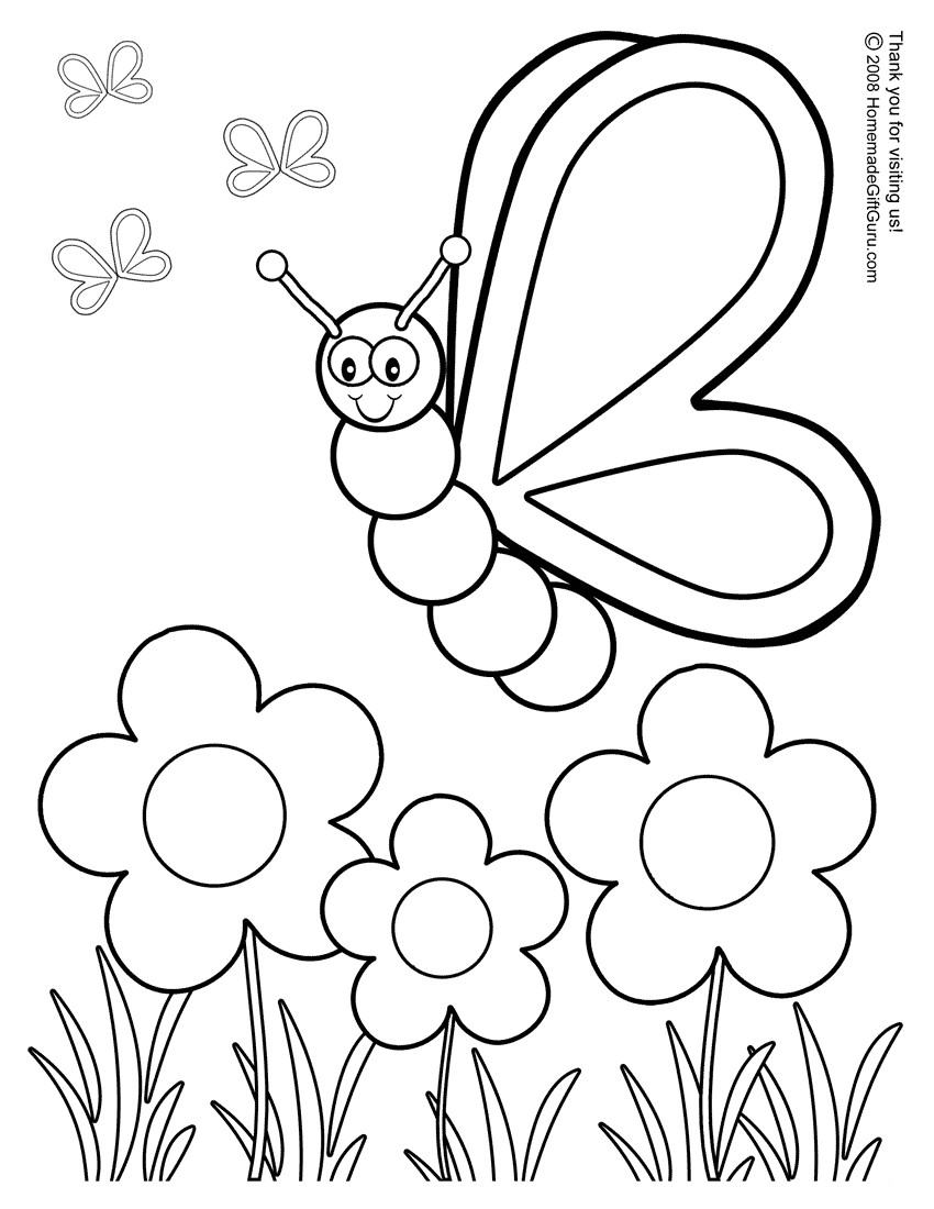 Kids Printable Spring Coloring Pages Archives And Free With