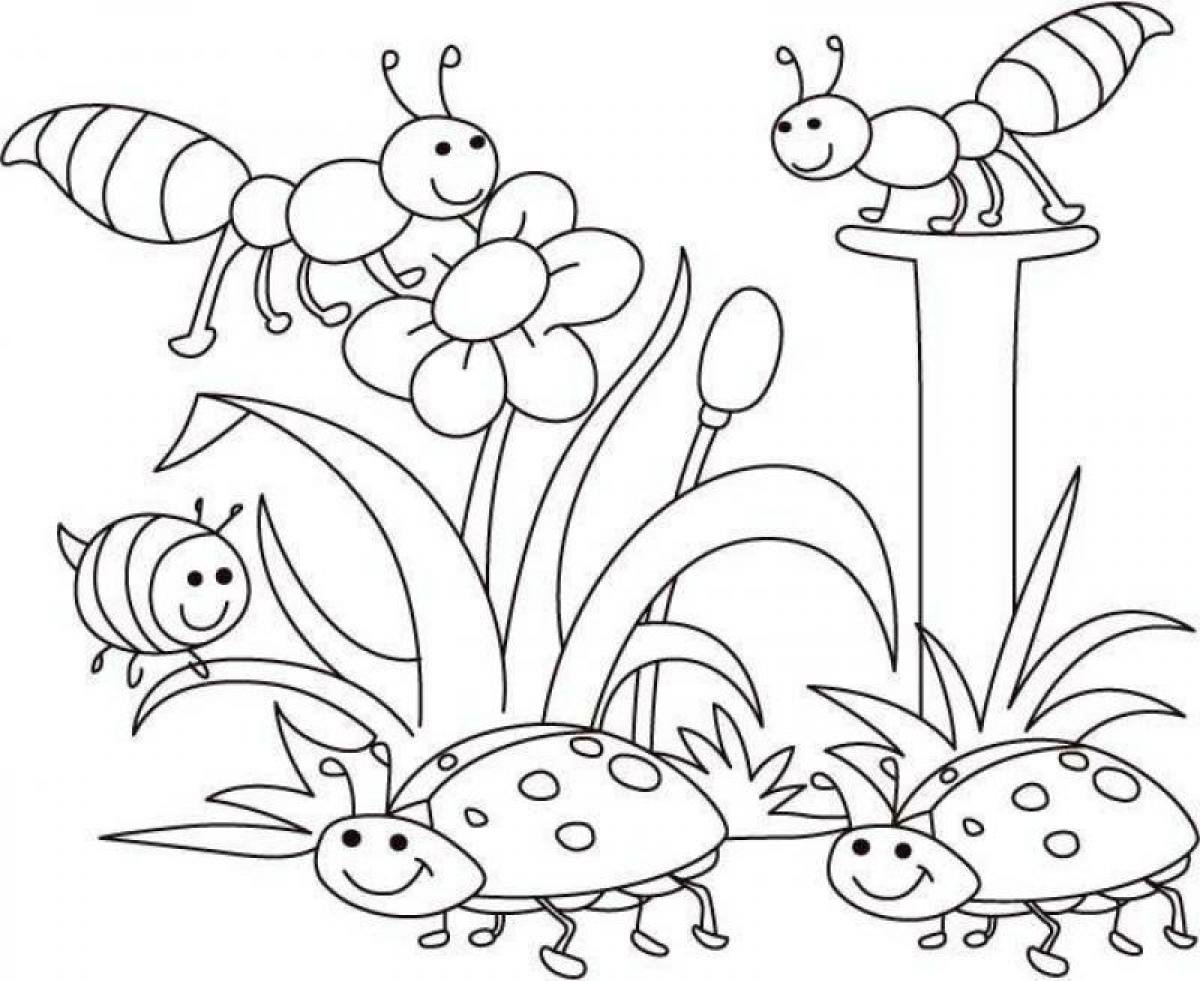 Spring Coloring Pages Spring Bugs