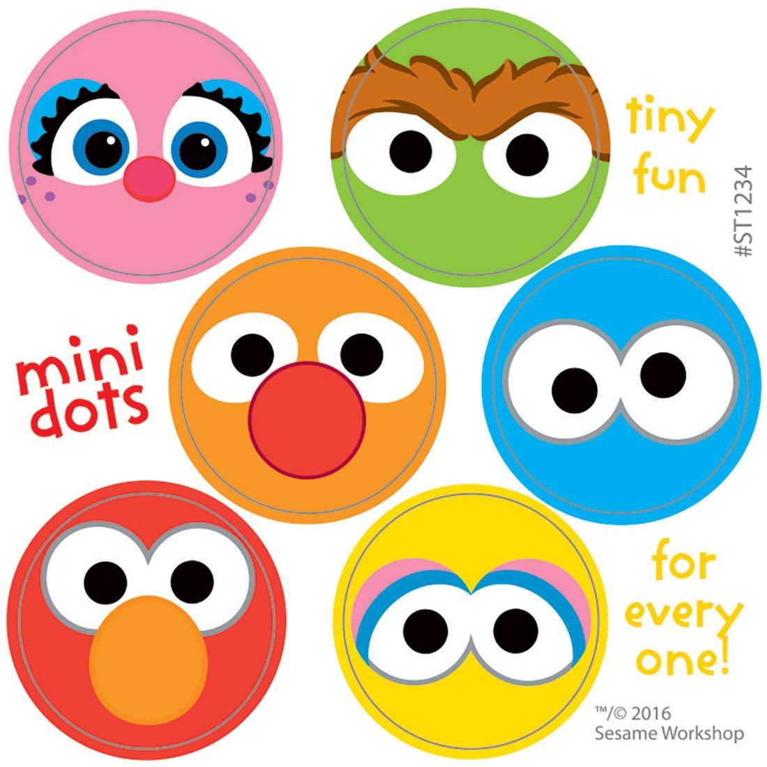 Sesame Street Characters Mini Dot Stickers
