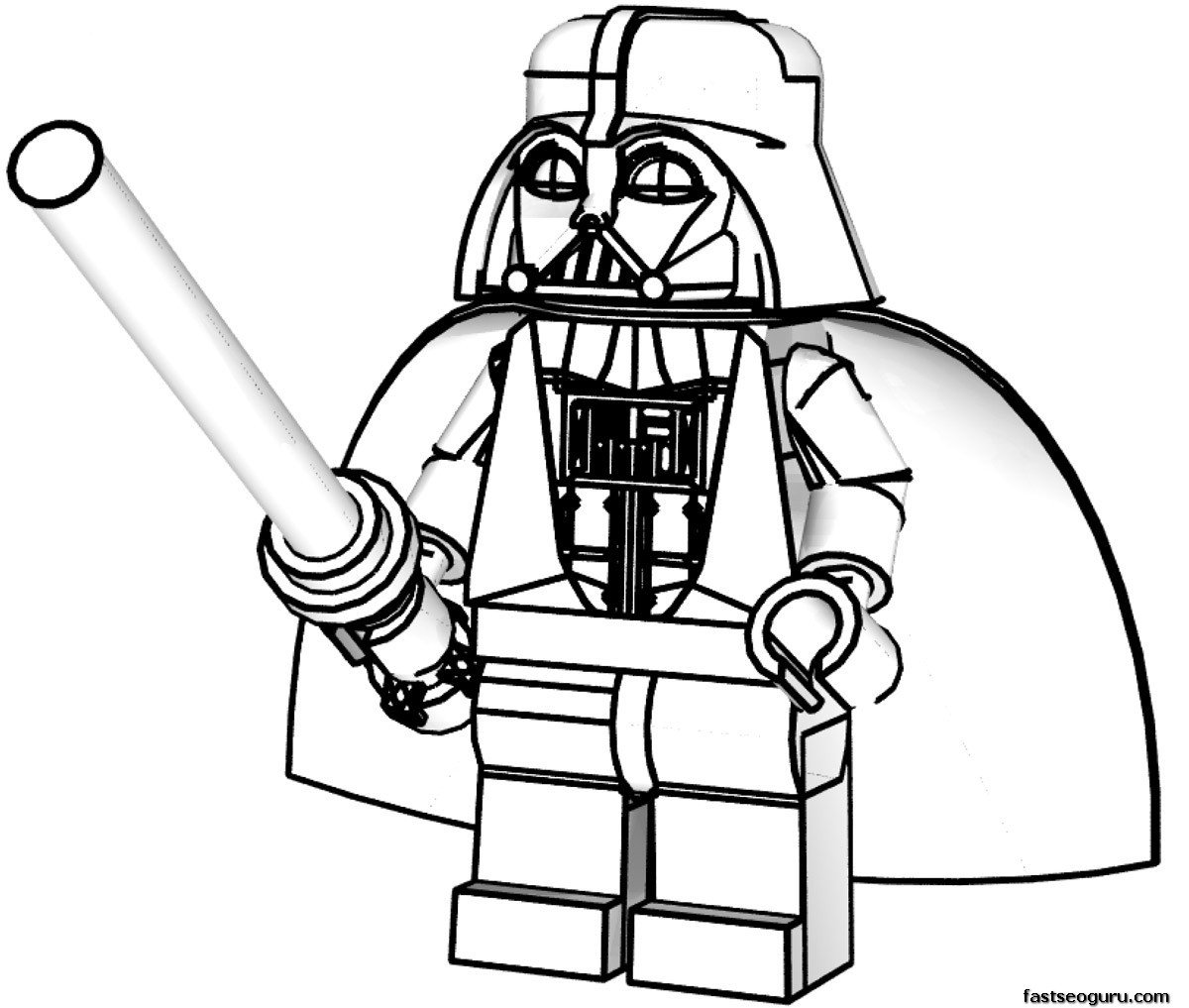 Star Wars Coloring Pages And Book Lego 11327,