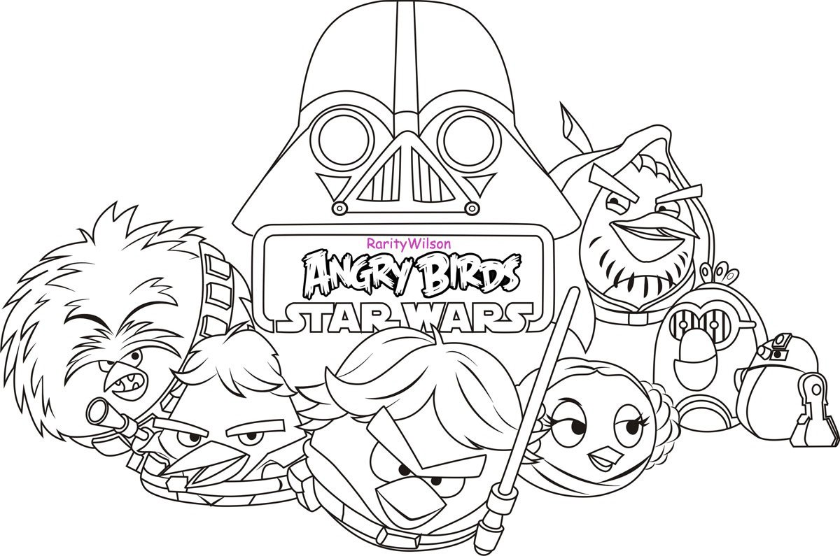 Angry Birds Star Wars Coloring Book At Coloring Book Online