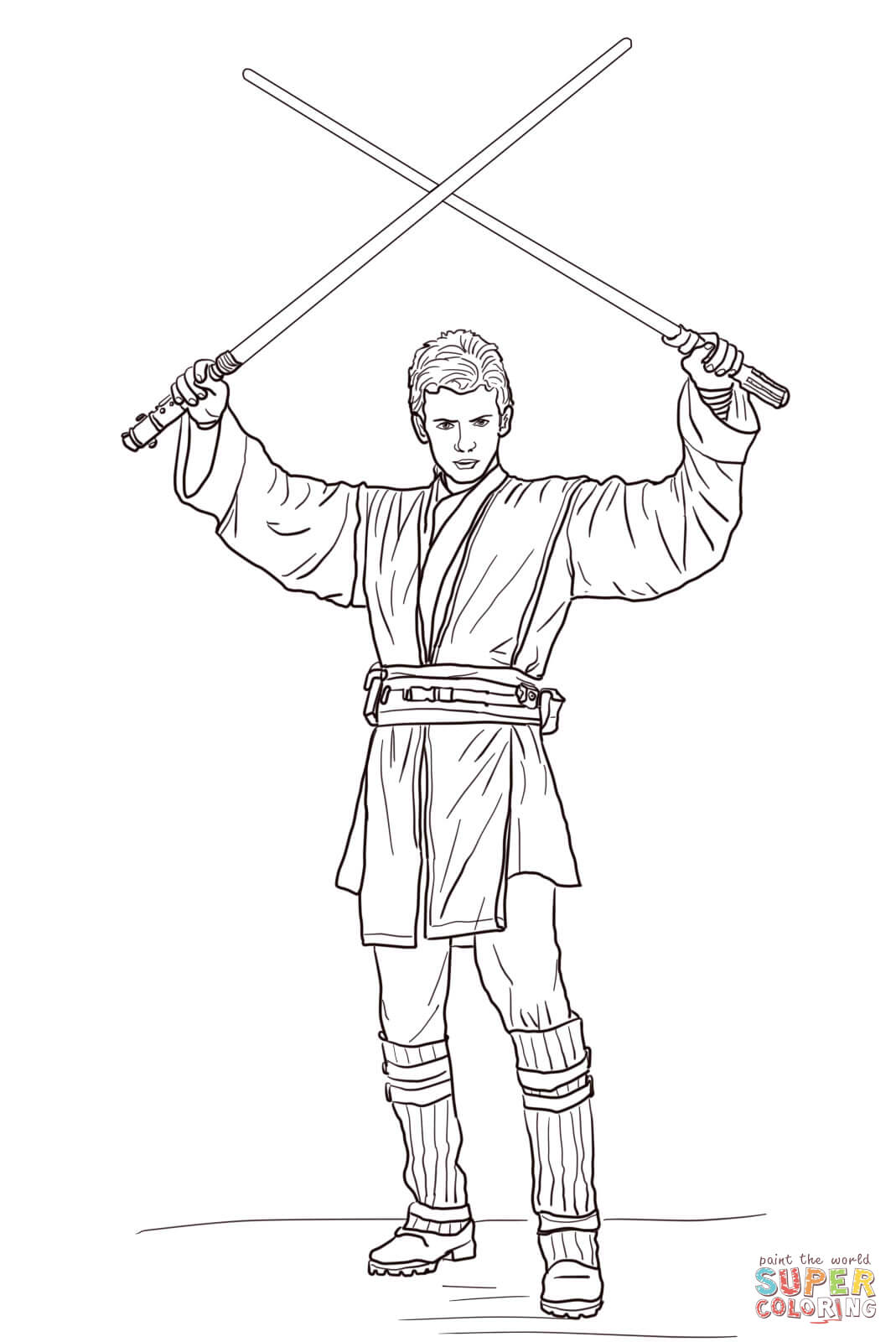 Star Wars Luke Skywalker Coloring Pages Inside