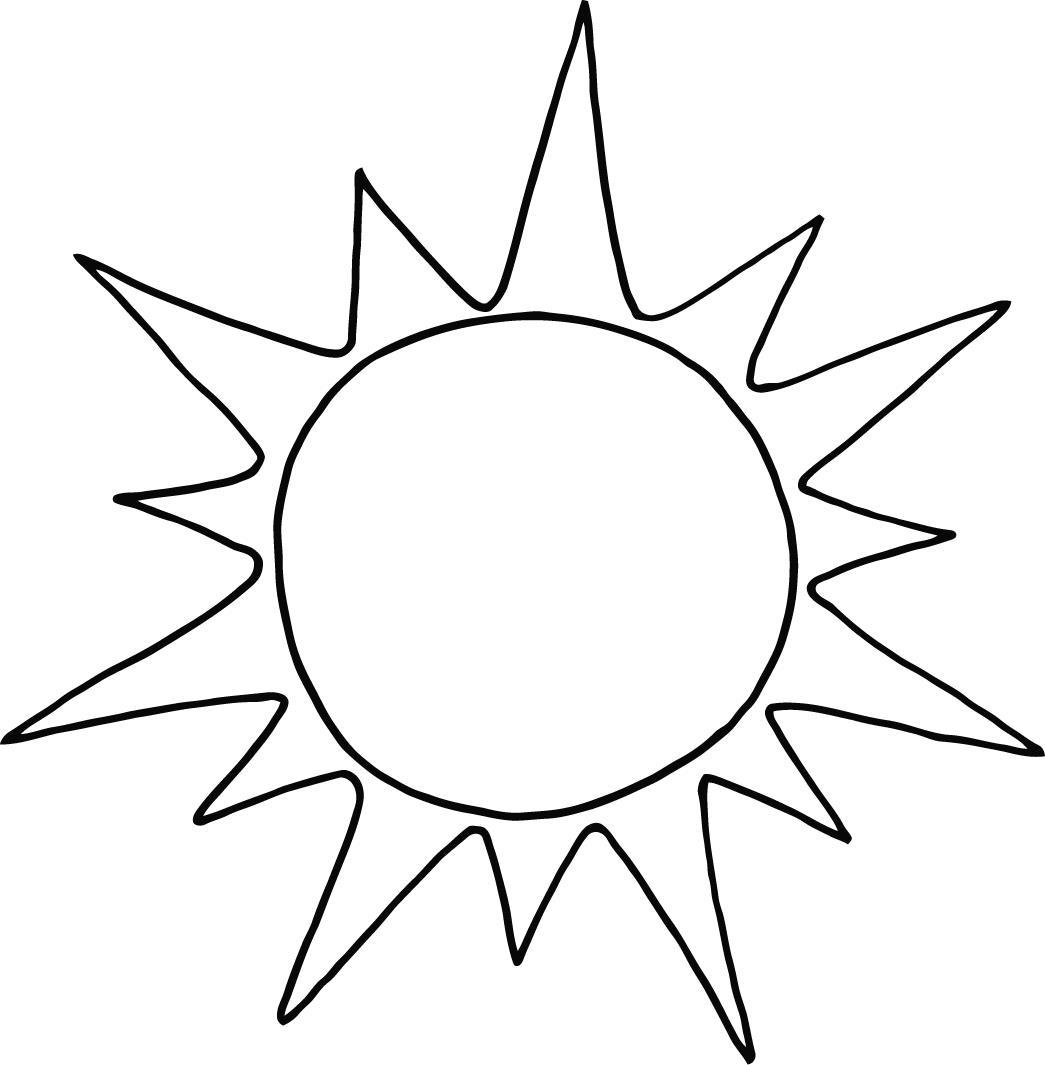 Sun Coloring Page Printable For Preschool