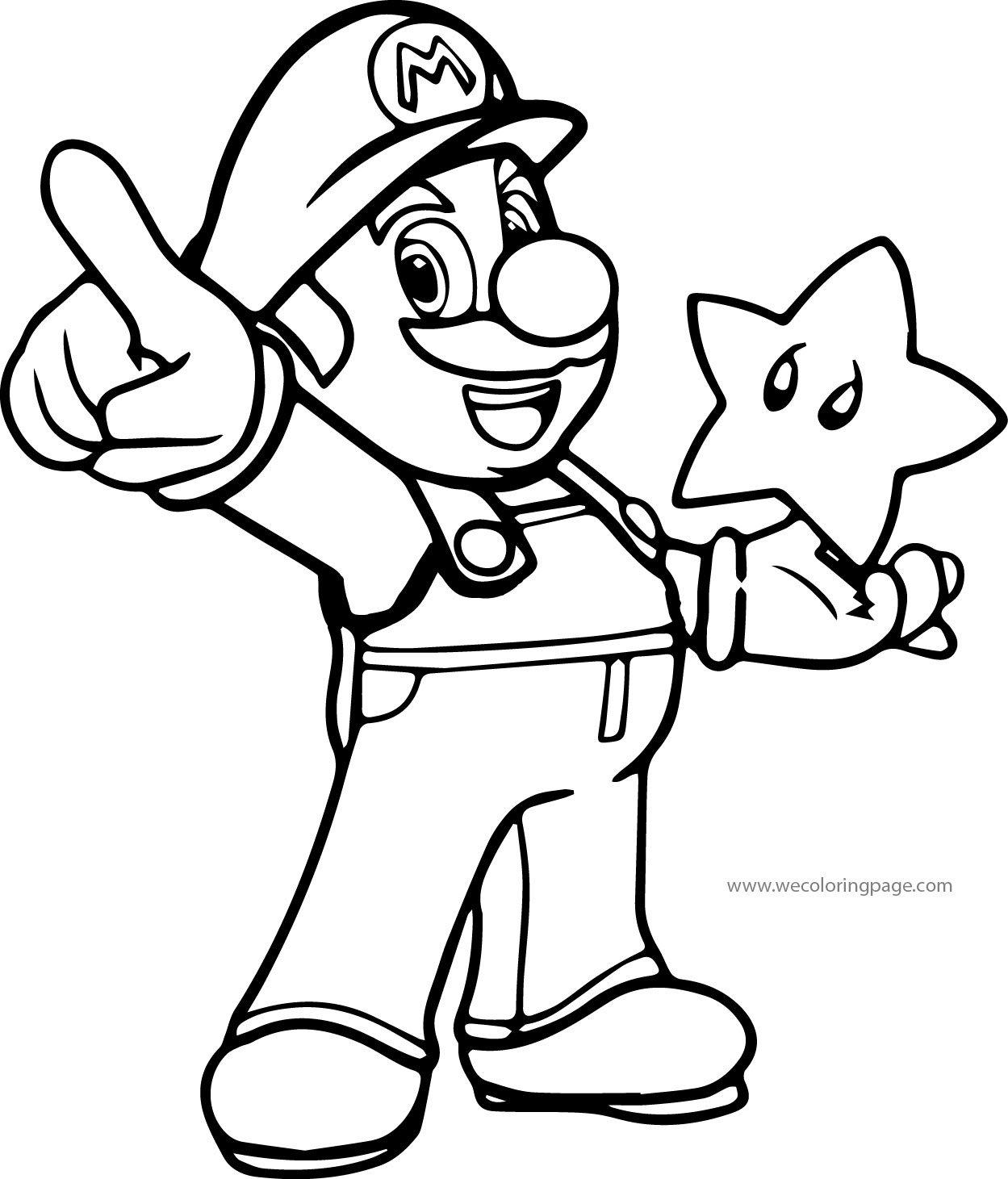 Super Mario Coloring Page