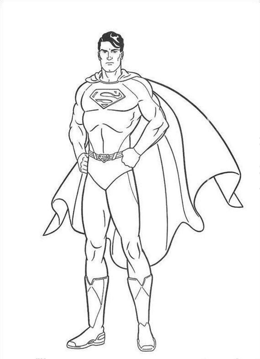 Free Printable Superman Coloring Pages For Kids Within Page