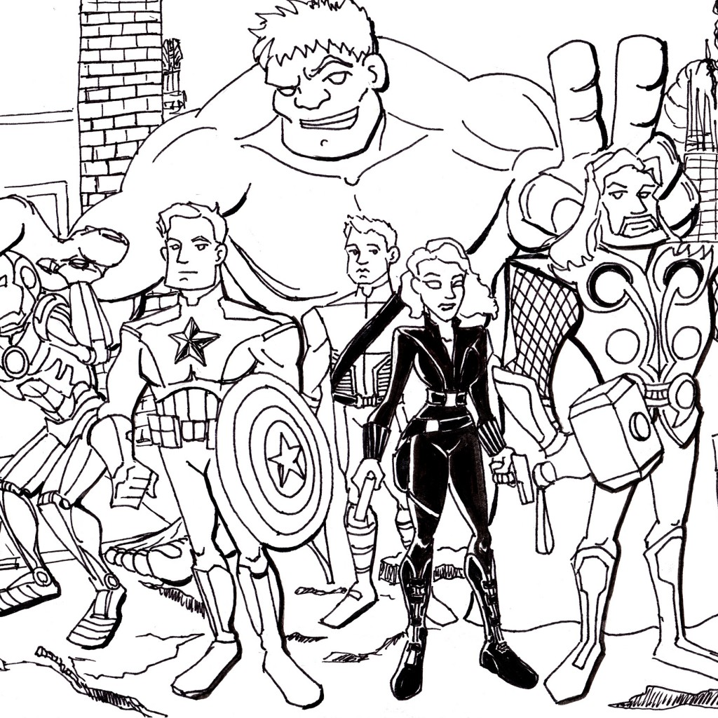The Avengers Coloring Pages To Print Archives Best Coloring Page