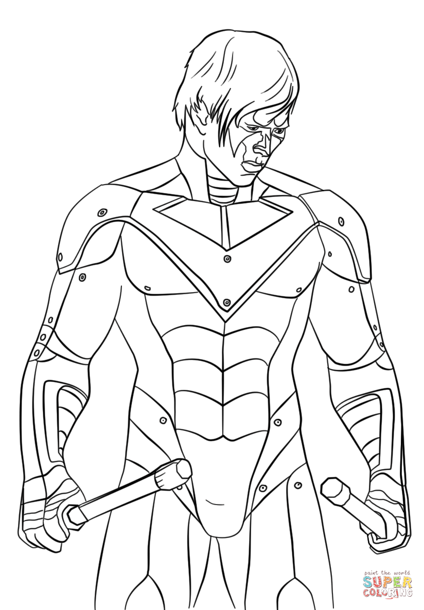 The Nightwing Coloring Page