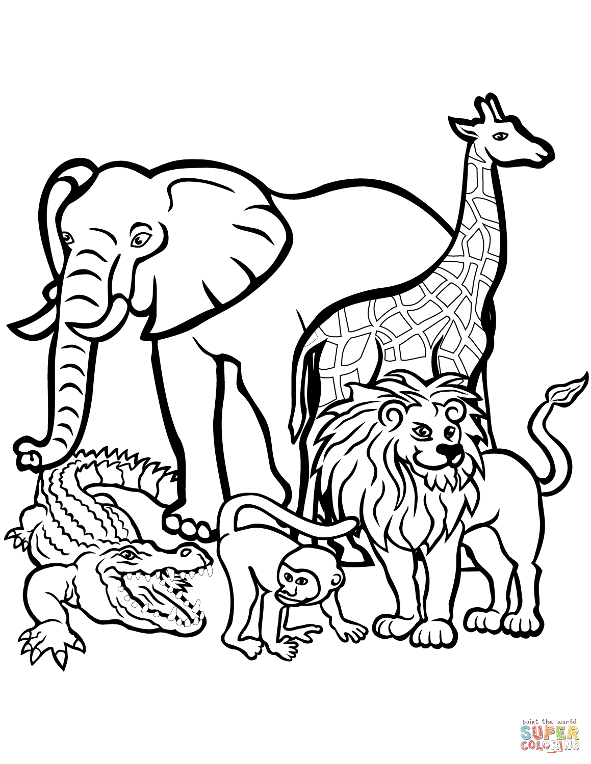 To Print Free Printable Animal Coloring Pages 81 In Line Drawings