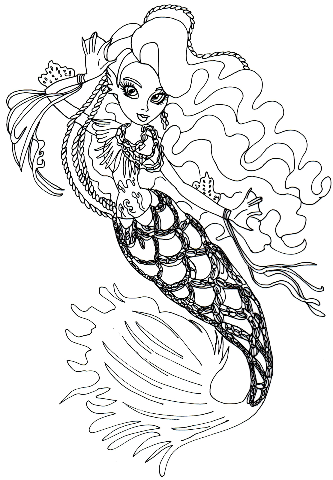 To Print Monster High Coloring Page 77 In Coloring Pages Online
