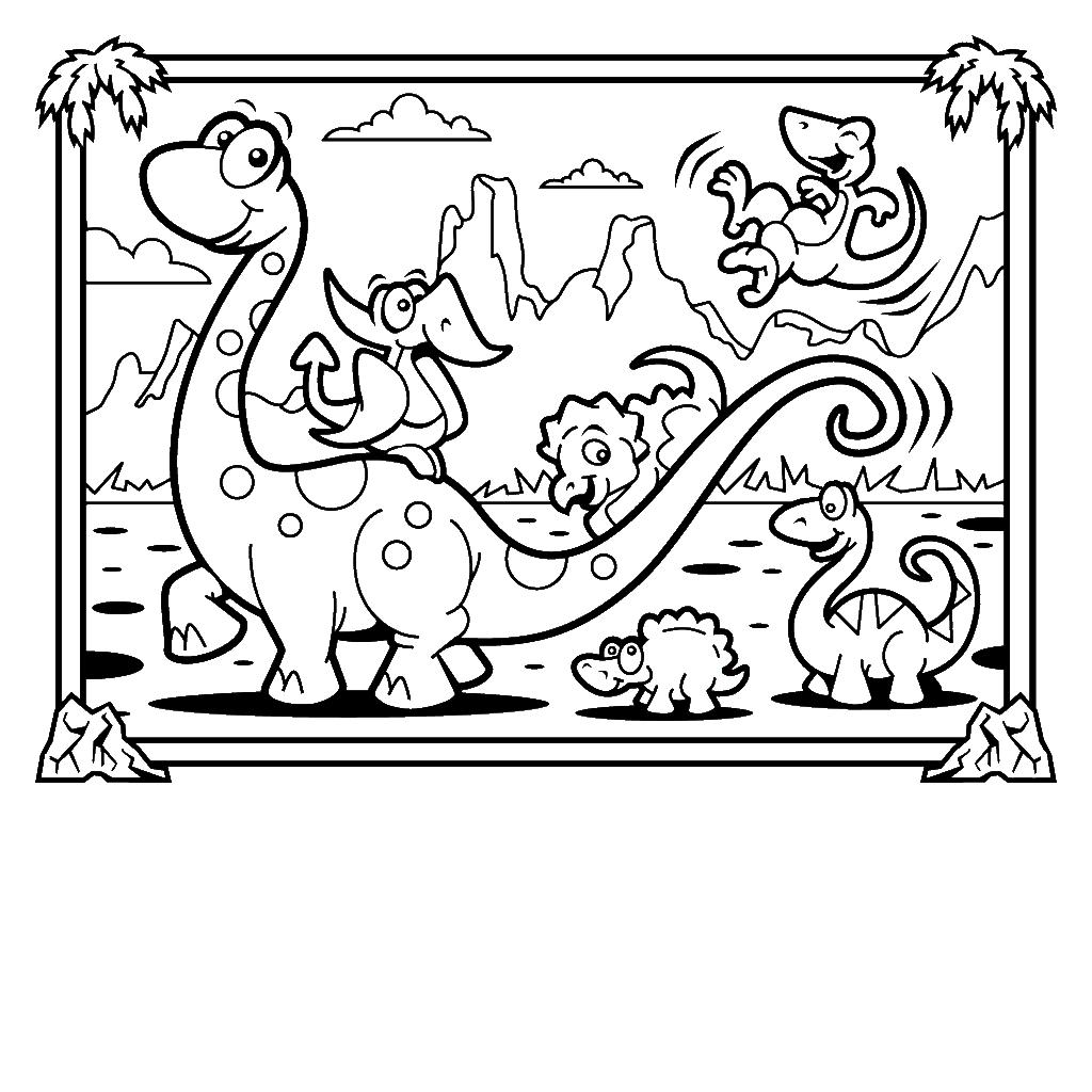 Dinosaur Coloring Sheets Free Online