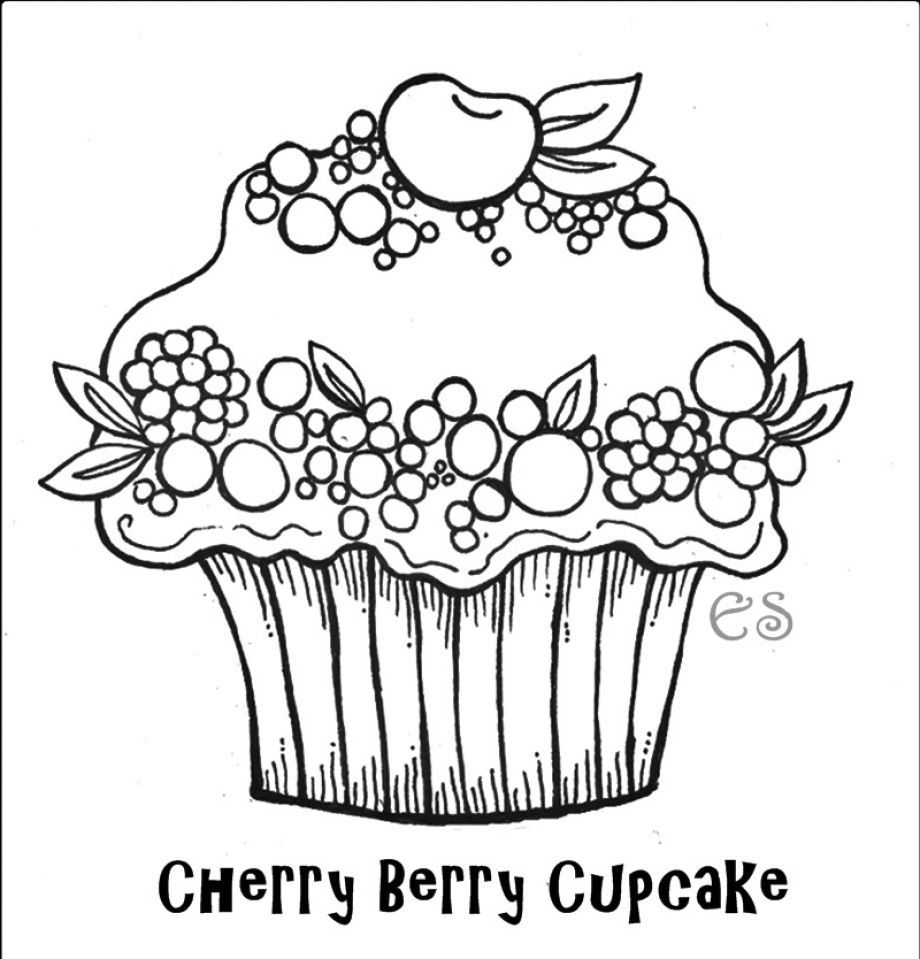 Trend Cupcake Coloring Page 81 For Your Seasonal Colouring Pages