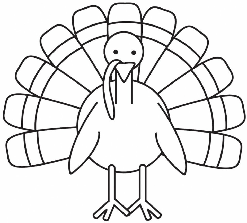 Get This Turkey Coloring Pages For Preschoolers 31990 !