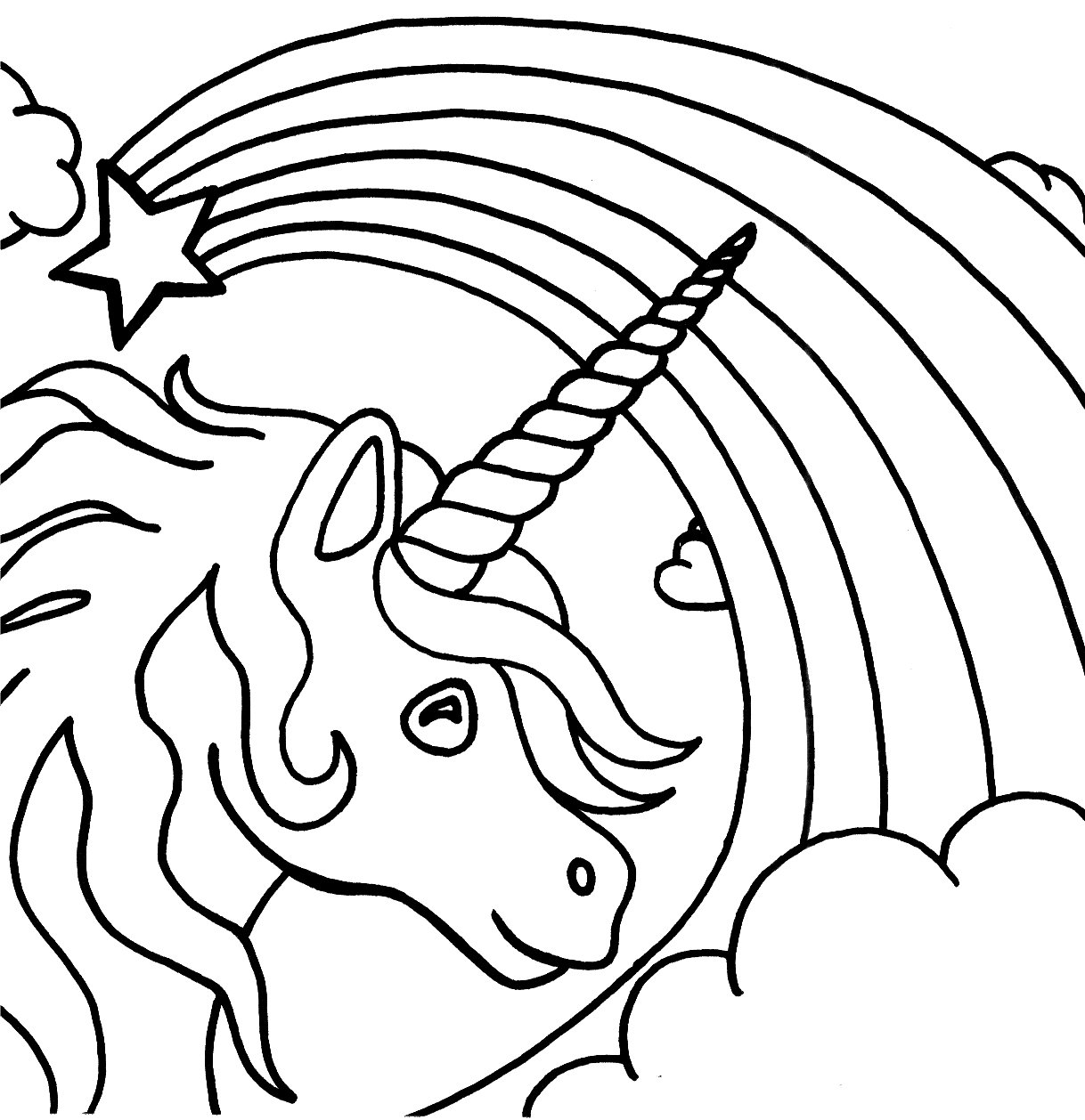 Unicorn Rainbow Coloring Pages 30845,