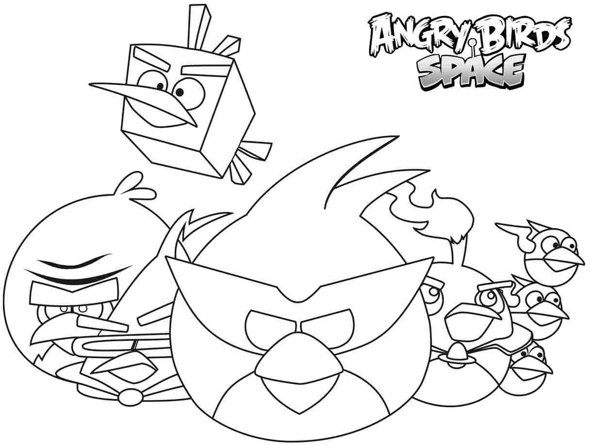Unique Angry Birds Space Coloring Pages 60 In For Kids And